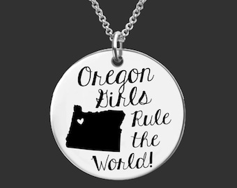 Oregon | State Necklace | Bridesmaid Gifts | Friend Gift | Daughter Gift | Best Friend Gifts | Personalized Gifts | Korena Loves