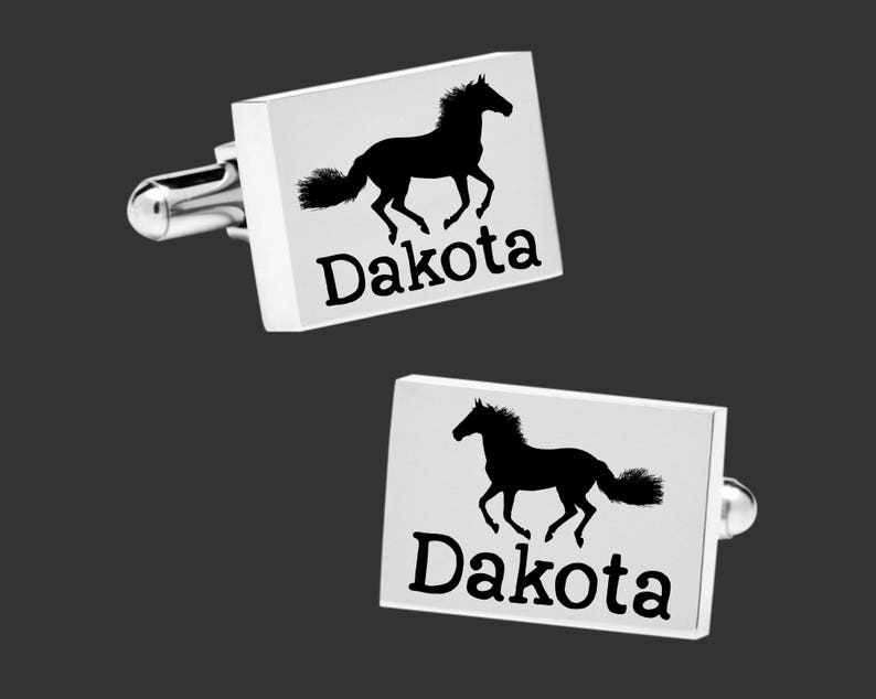 Gift for Horse Lover Country Gift Personalized Cuff Links Fathers Day Gift Gift Ideas Gift for Dad Horse Cuff Links