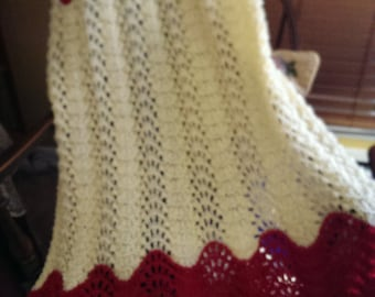 Santa Suit Knitted Afghan, Just For You!