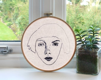 "Pretty Ugly // Original Artwork // Hand Embroidery // 7"" Hoop // Illustration"