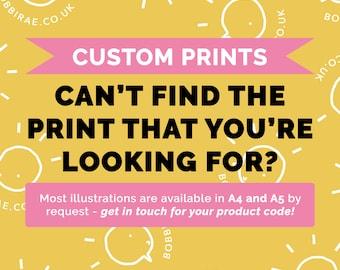 Custom Print (A3, A4, A5)