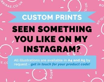 Custom Print (A4 or A5)