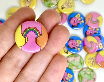Nudey Button Badges (Various)