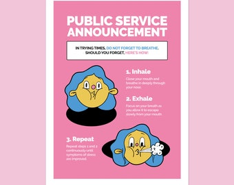 Public Service Announcement Art Print