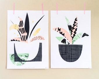 Plant Life A4 Art Print Pair