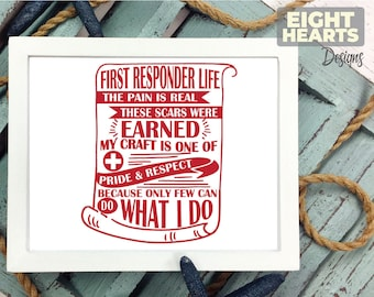 First Responders -EMS Life Series- |svg|png|dxf|eps -Cutting,Printing,Sublimating,Crafting - Iron on Transfer Great for DIY'ers Cricut/Cameo