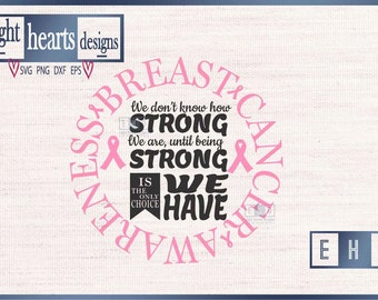 1959542e Breast Cancer Survivor Awareness - Strong Survivor Pledge Breast Cancer SVG  or Studio file for vinyl or htv on tshirts tiles or canvas