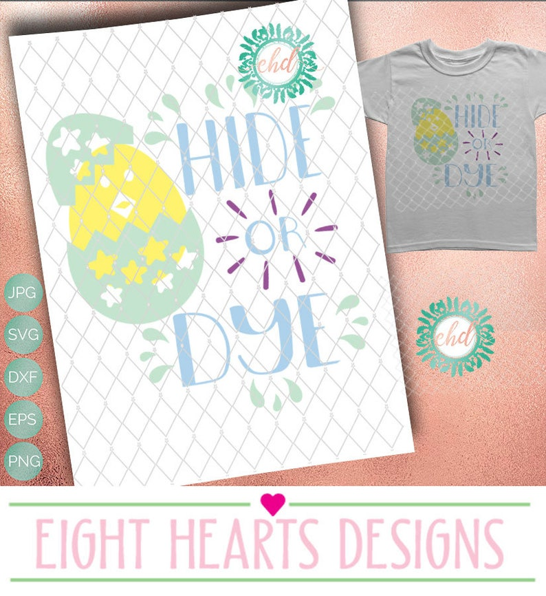 Hide or Dye Easter SVG Cut able Design File suitable for Tile image 0