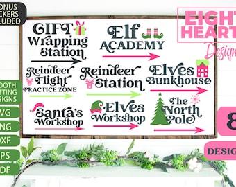 Christmas Bundle - Santa's Village - SVG & Stickers
