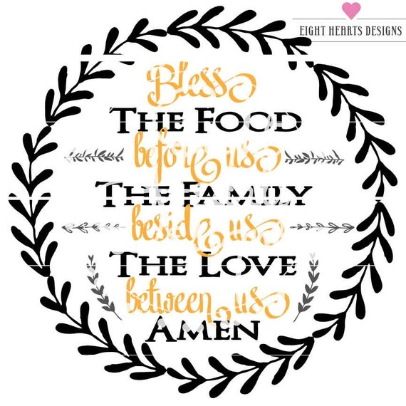 Bless The Food Thanksgiving Prayers And Happiness In Etsy