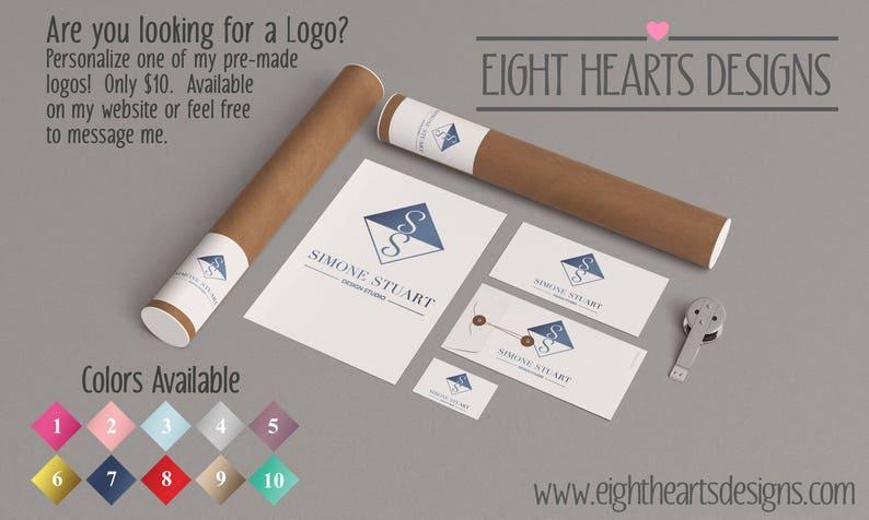 0b36172fdbd Trendy Shabby Chic Custom Logo Branding Toolkit Logo