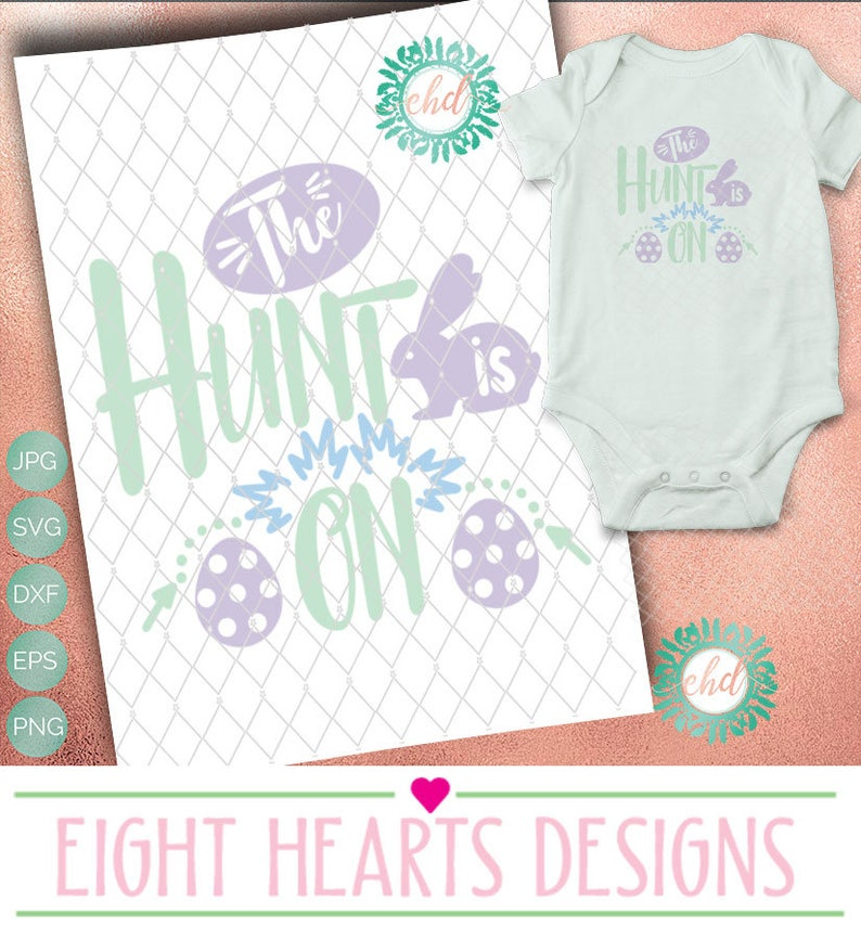 Easter The Hunt is ON SVG Cut able Design File suitable for image 0