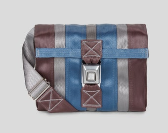0ee017a2b Seatbelt Purse Seatbelt Bag Gray Blue and Purple Seat Belt Bag Gifts for  Her Birthday Gifts For Him Seat Belt CrossBody Bag Seatbelt Bag