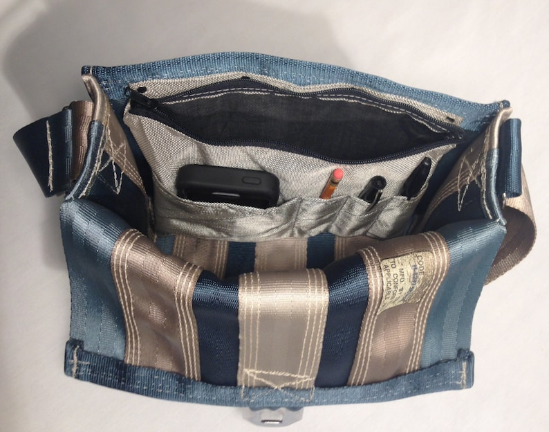 Small Messenger Bag Seatbelt Messenger Bag Gifts for Back to School Black Gray and Navy Purse Seatbelt Bag Gifts for Her Gifts for Him