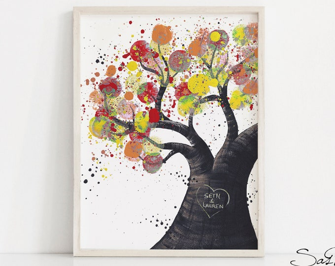 Unique Wedding Gift Idea - Tree of Life Wall Art for Couples, Summer Wedding Gift for Newlyweds