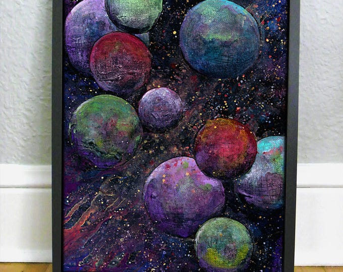 Space Art Print - Sci Fi Gift - Space Nursery Print - Planet Artwork - Outerspace Kids Room Decor - Galaxy Print
