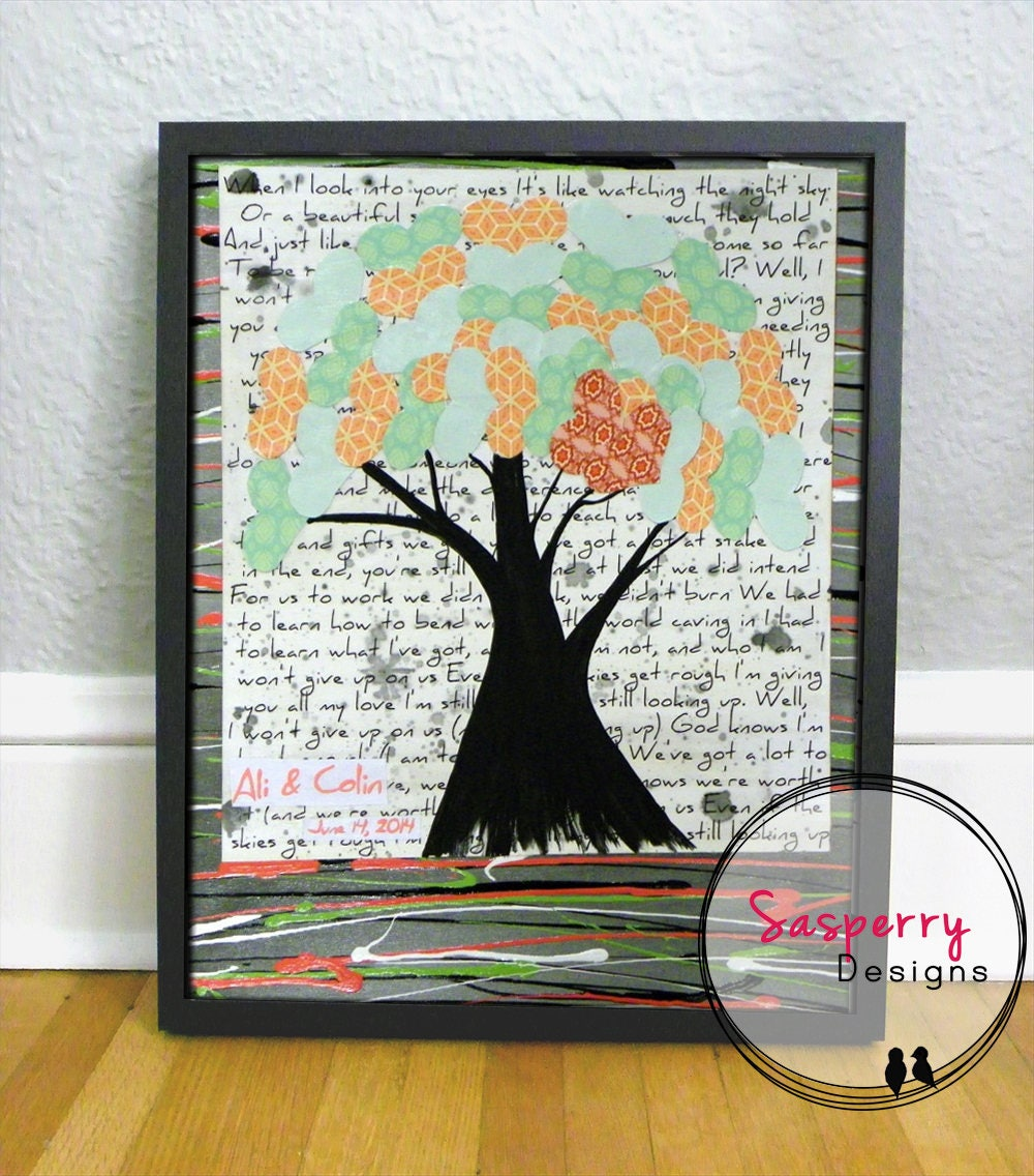 Custom Song Lyric Art Or Music Sheet Painting Gift Personalized