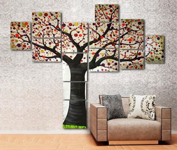 Großer Baum Acryl Malerei Auf Leinwand Fertig Zum Aufhängen | Etsy