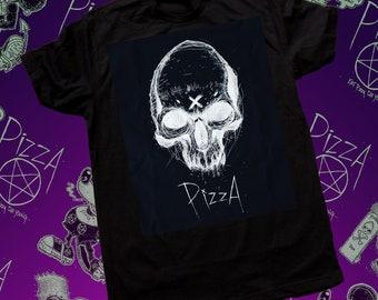 Pizza Pentagram Pizza Pinhead Skull