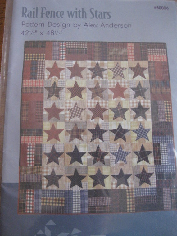 Items Similar To Alex Anderson Rail Fence With Stars Quilt