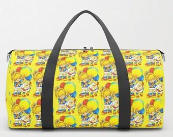 b6991cdd9bcc 80s Inspired DUFFEL BAG Rainbow Brite Eighties Travel Suitcase Yellow  Bright Cartoon Television TV Show Retro Kid Children Vintage Sprite