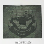 Video Game ODST Blanket Fleece Throw Home Decor Quote Green Gaming Fandom Marine UNSC Gamer Helljumper Military Decoration Gift For Guy Men