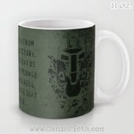 Feet First into Hell Mug ODST 11/15 oz Dishwasher Microwave Safe Cup Tea Coffee Drink For Him Olive Drab OD Green Video Game Dude Guy
