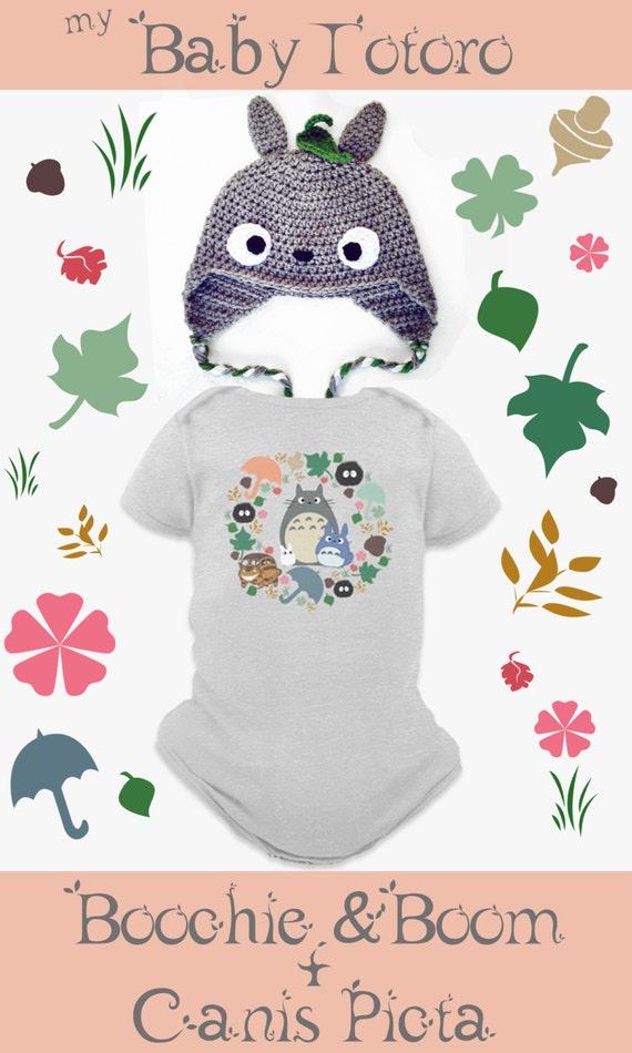 Totoro Hat Onesie Kawaii Beanie My Neighbor Anime Grey Crochet Etsy