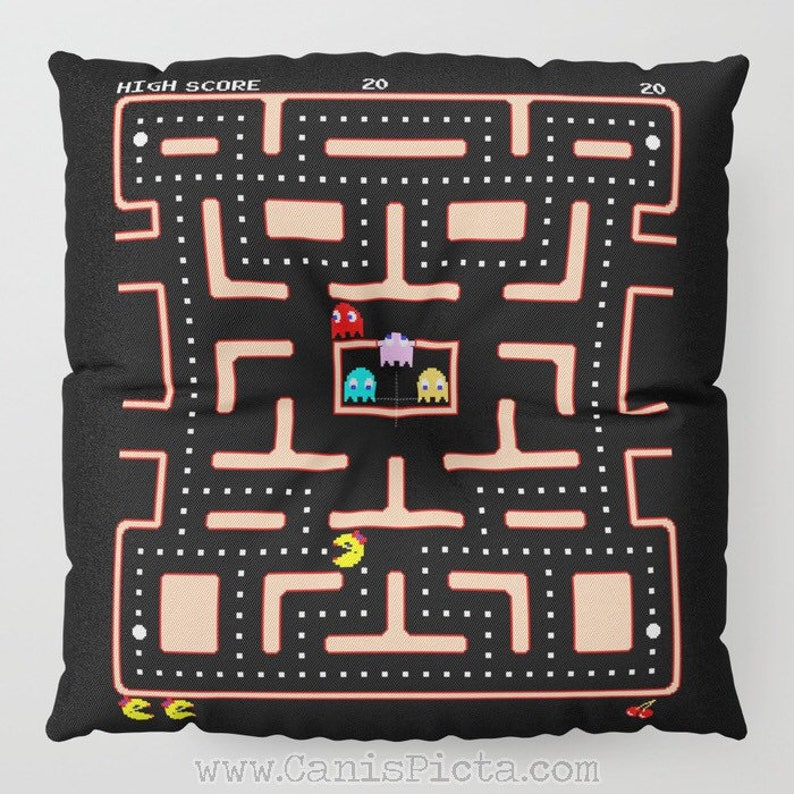 Floor Pillow Ms Vintage Video Game Round Square Cushion image 0