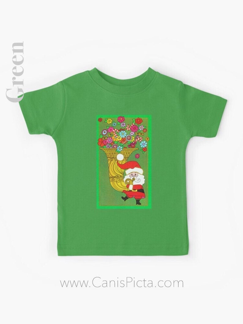 Christmas Santa Claus KIDS T-shirt Gift Boy Girl Tee Shirt image 0