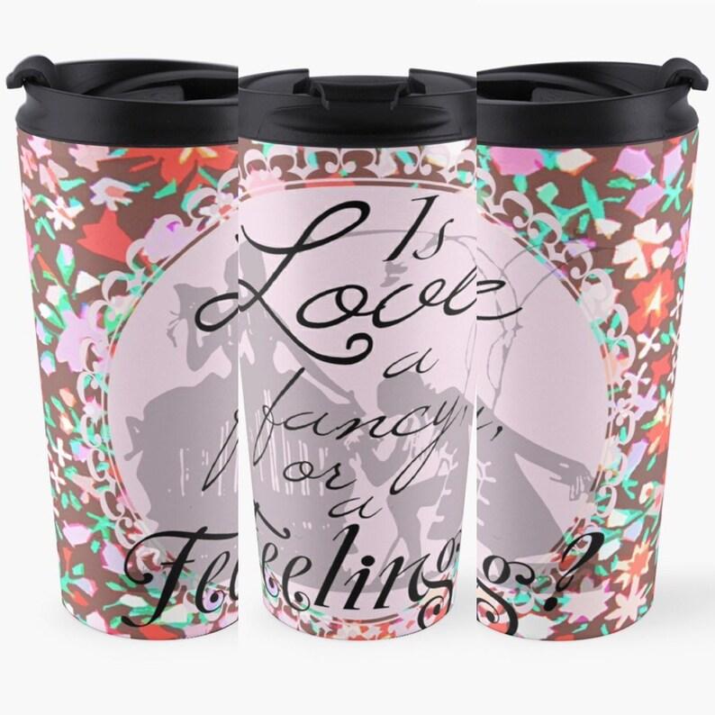 Sense & Sensibility Metal Travel Mug Cup Tea Coffee Drink image 0