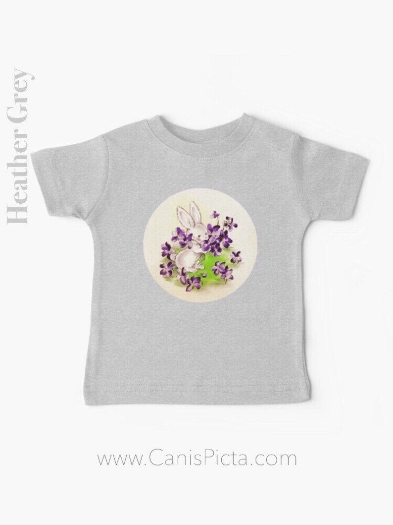 Lilac Easter Bunny BABY T-SHIRT Tee TShirt Babies Girl Boy image 0