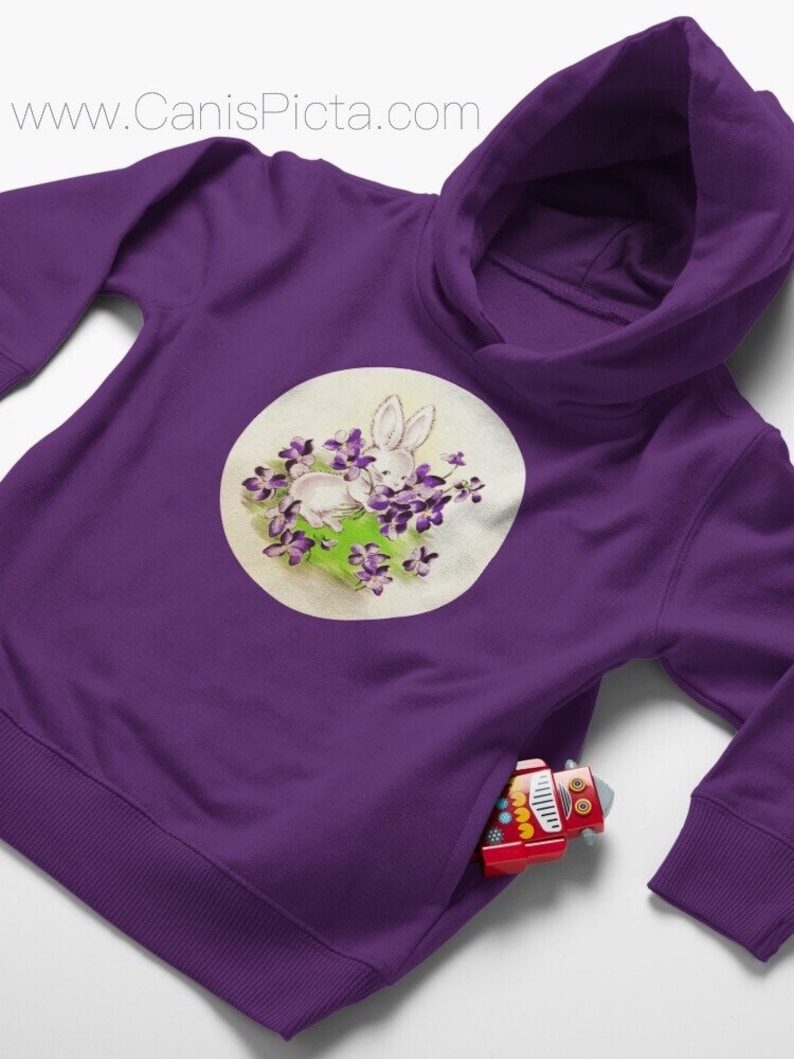 Lilac Easter Bunny TODDLER Pullover Hoodies Babies Girl Boy Purple