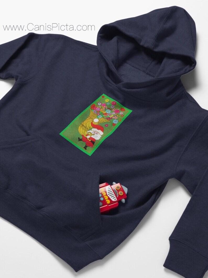 Christmas Santa Claus TODDLER Pullover Hoodies Babies Girl Boy image 0