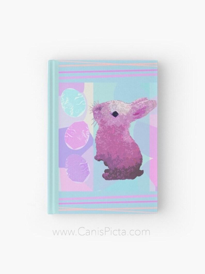 Easter Bunny Hardcover Journal Notebook Sketchbook Paper Book image 0