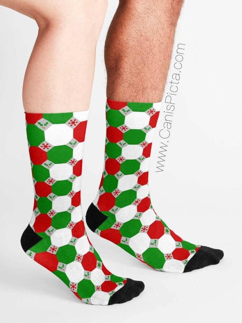 Geometric Christmas SOCKS Gift Soft Socksy Feet Fashion Foot image 0