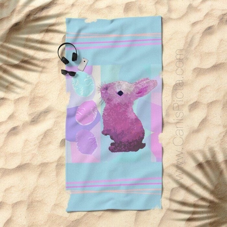 Easter Peepster Bunny TOWEL Bath Beach Terry Hand Bathroom image 0