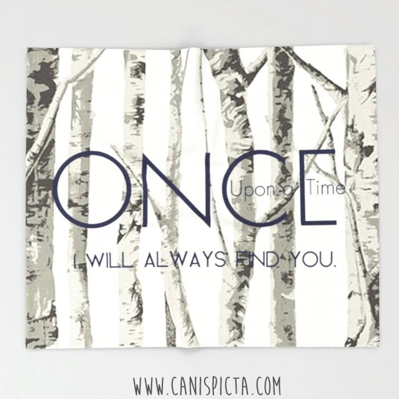 Once Upon A Time Blanket Throw OUAT Home Decor TV Show