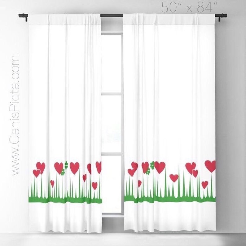 Lucky in Love WINDOW CURTAINS Decorative House Home Decor image 0