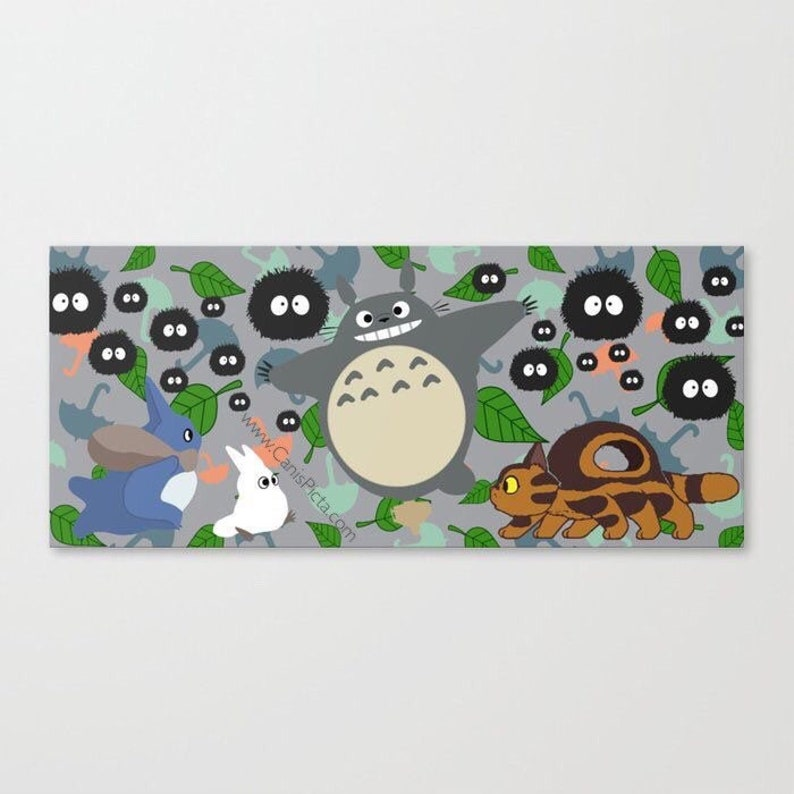 Totoro in Motion 10x5 Pop Art Print Wall Home Decor Catbus image 0