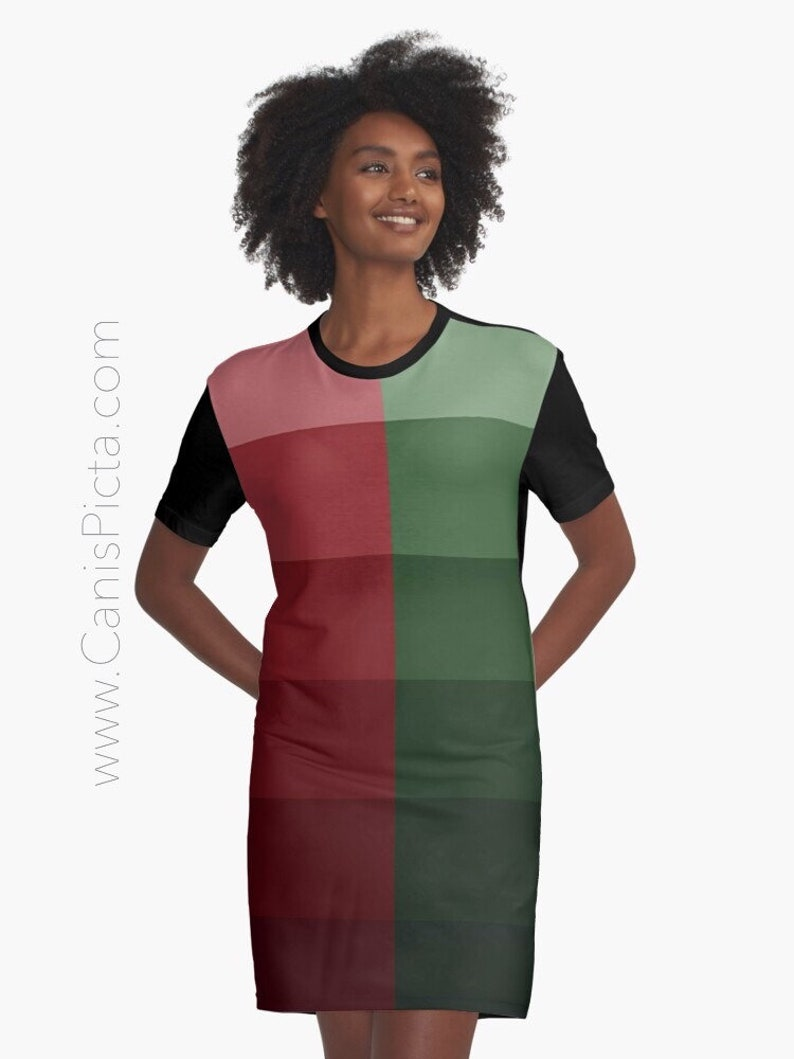 Christmas Ombre T-Shirt Dress Shirt Tee Top Tunic Gift Apparel image 0