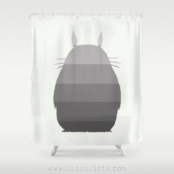 My Ombre Totoro Shower Curtain 71x74 Studio Ghibli