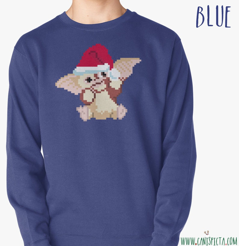 bf238e4170ab Gremlin Gizmo Ugly Christmas Sweater Sweatshirt 8-Bit Pixel