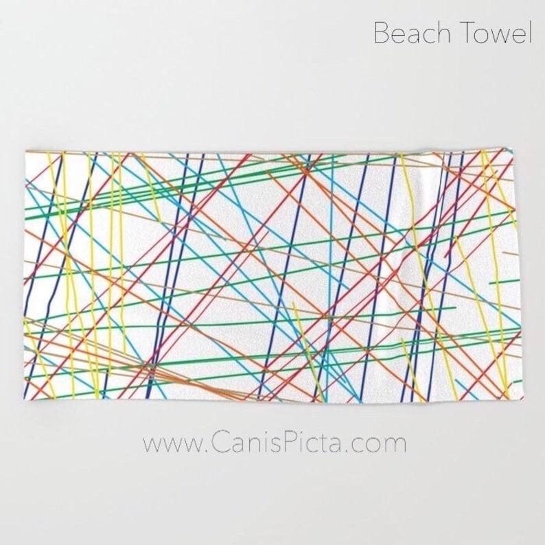Modern Lines Towel Bath Beach Terry Hand Bathroom Decor For image 0