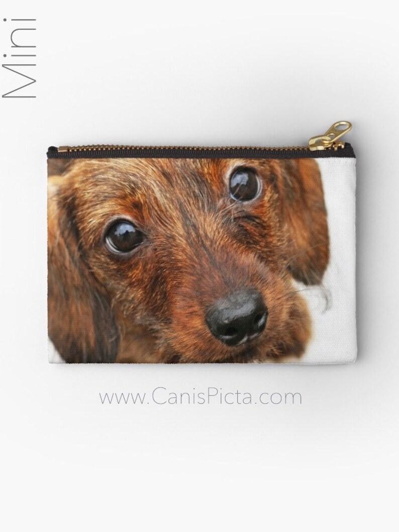 Wire Dachshund Puppy Studio Pouch Clutch Handbag Accessory image 0