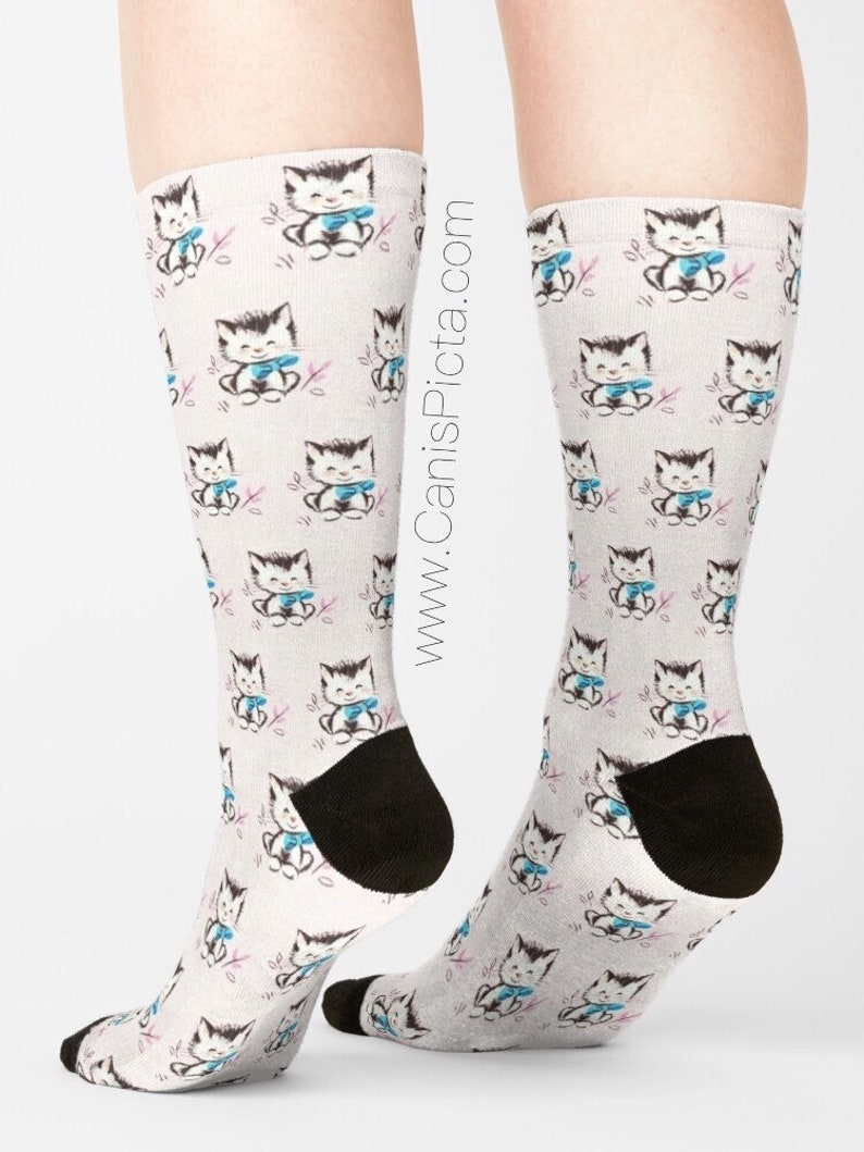 Kitten SOCKS Gift Soft Socksy Feet Fashion Foot Swag Gear image 0