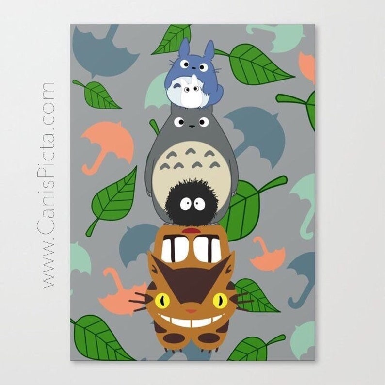 Totem Totoro 8x10 Pop Art Wall Home Decor Nursery Kid Children image 0