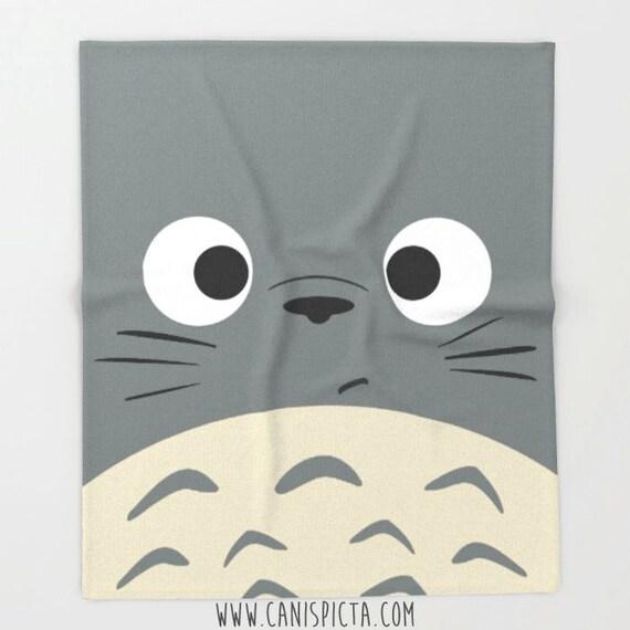 Totoro Blanket Ghibli Throw Kawaii Fleece