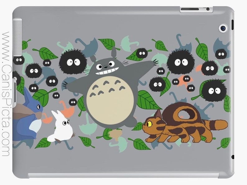 Totoro in Motion iPad Snap Case Protective Protect Tablet image 0