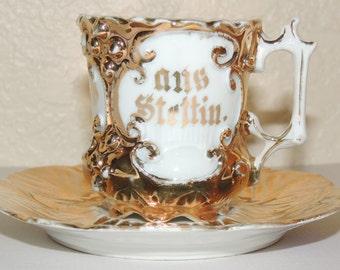 Antique Miniature Polish Cup and Saucer set